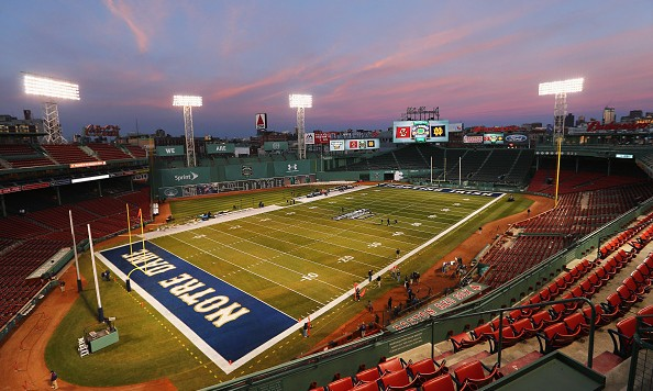 BOSTON, MA - NOVEMBER 21:  A general view of Fenway Park before the game between the Boston College Eagles and the Notre Dame Fighting Irish on November 21, 2015 in Boston, Massachusetts.  (Photo by Maddie Meyer/Getty Images)