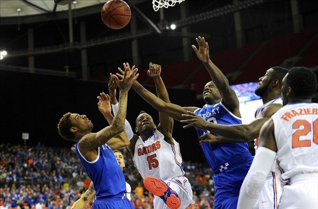 Kentucky and Florida battled in a fierce 2014 SEC Tournament final. The Gators won and completed the SEC's first 21-0 season. Kentucky, though, advanced one round beyond Florida in the NCAA tournament.