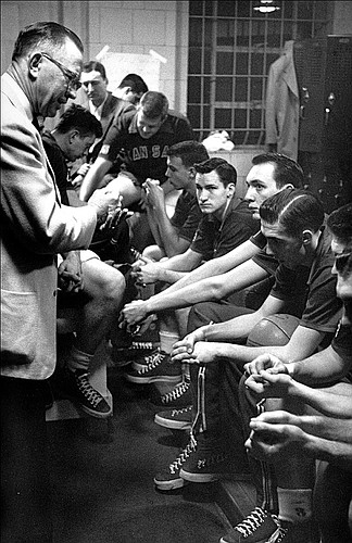 One of the most iconic photos in college basketball's early history, from 1952 in Seattle.