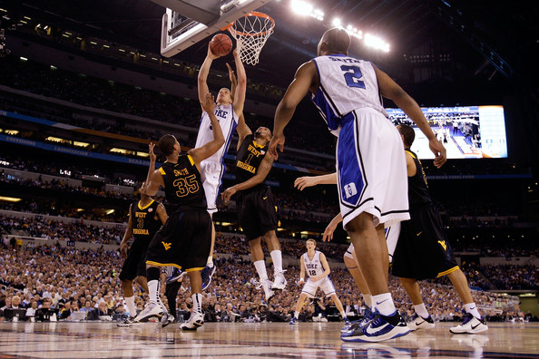 West Virginia and Duke would not have met in the 2010 national semifinals with a re-seeded Final Four.