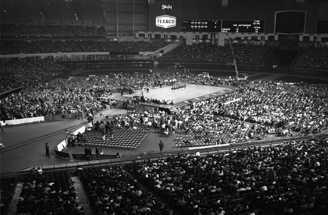 Western Kentucky reached the 1971 Final Four in Houston's Astrodome, shown above. The Hilltoppers have been one of college basketball's more consistent programs over time, more than you might think.