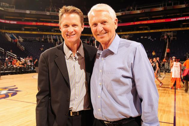 Lute Olson IS Arizona basketball. See that guy next to him? He's not just the coach of the NBA champions; he was a member of Arizona's first Final Four team in 1988.