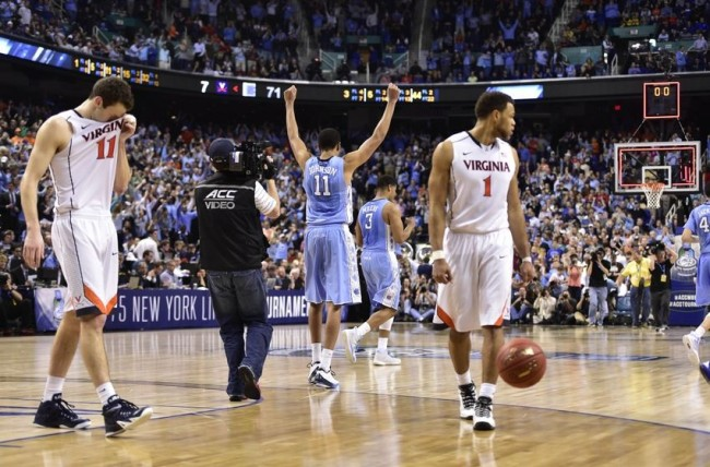 North Carolina beat Virginia in last year's ACC semifinals, but neither team got past the Sweet 16.