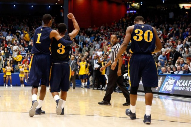 North Carolina A&T defeated Liberty in the 2013 First Four.