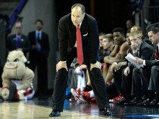 CHARLOTTE, NC - MARCH 20:  Head coach Mark Fox of the Georgia Bulldogs watches on against the Michigan State Spartans during the second round of the 2015 NCAA Men's Basketball Tournament at Time Warner Cable Arena on March 20, 2015 in Charlotte, North Carolina.  (Photo by Grant Halverson/Getty Images)