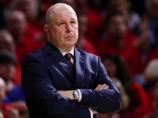 TUCSON, AZ - JANUARY 04:  Head coach Herb Sendek of the Arizona State Sun Devils reacts on the bench during the first half of the college basketball game against the Arizona Wildcats at McKale Center on January 4, 2015 in Tucson, Arizona.  (Photo by Christian Petersen/Getty Images)