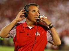 NORMAN, OK - SEPTEMBER 17:  Head coach Urban Meyer of the Ohio State Buckeyes looks on against the Oklahoma Sooners at Gaylord Family Oklahoma Memorial Stadium on September 17, 2016 in Norman, Oklahoma.  (Photo by Scott Halleran/Getty Images)