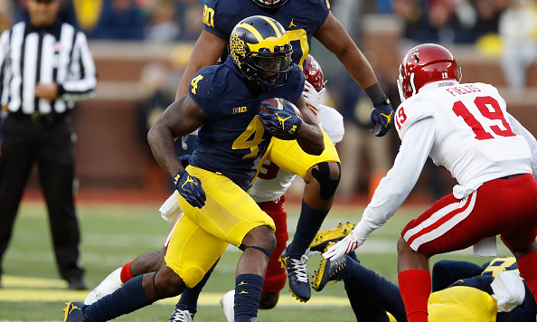 Without Speight, No. 4 Michigan shakes off Indiana, 20-10