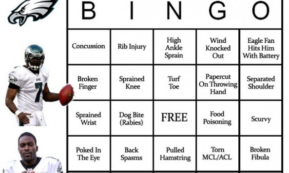 Michael Vick Bingo Board