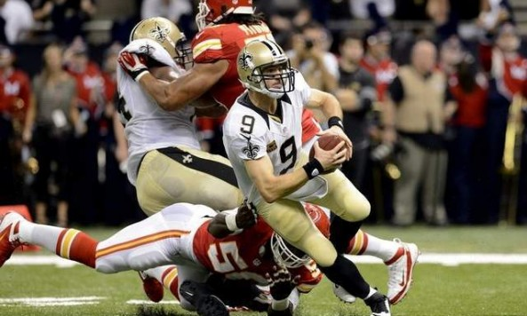 Drew Brees Sacked