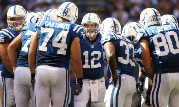Andrew Luck Huddle