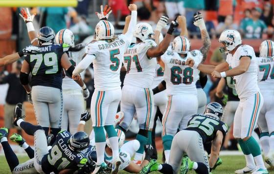 Dolphins Seahawks Winning Kick