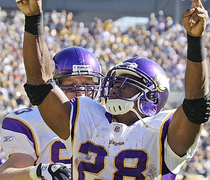 Adrian Peterson Celebrates