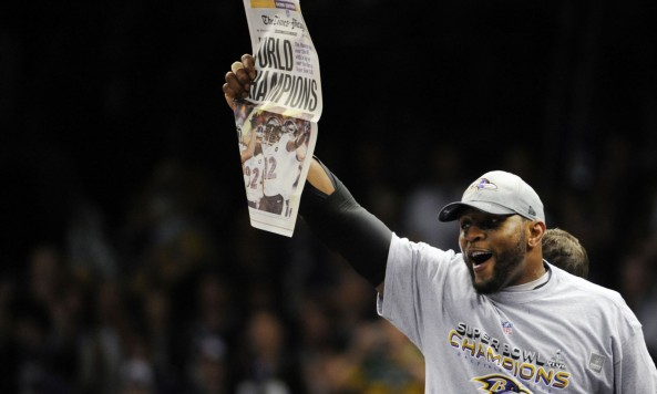 Ray Lewis Championship Newspaper