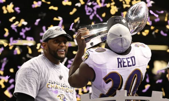 Ray Lewis Ed Reed Super Bowl