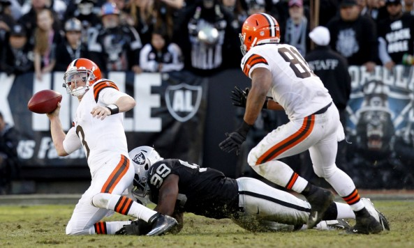 Brandon Weeden Sack