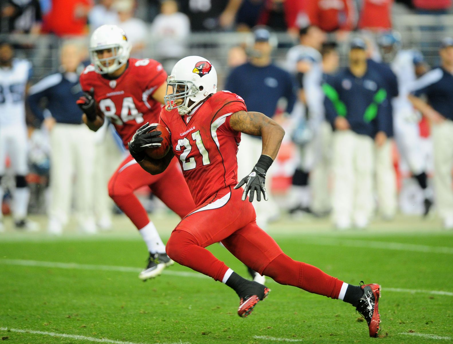 Patrick Peterson to playing time on offense