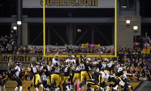 Steelers Winning Field Goal Over Ravens