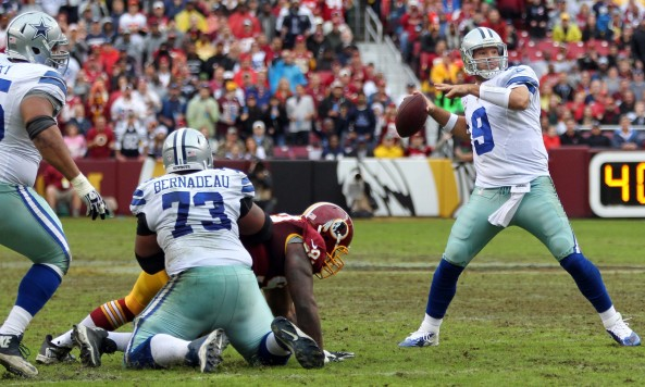 Tony Romo Throwing Redskins