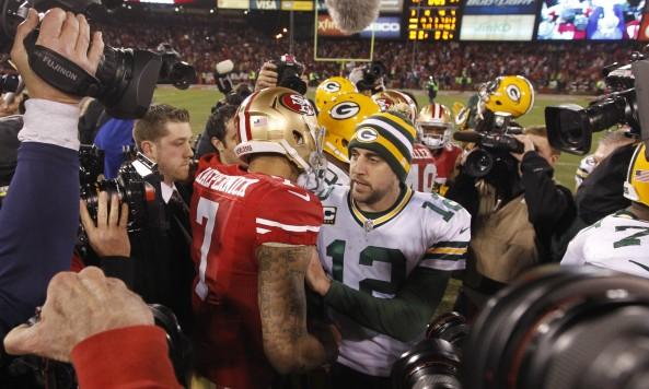 Kapernick Rodgers Postgame Handshake