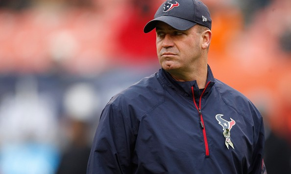 CLEVELAND, OH - NOVEMBER 16:  Head coach Bill O'Brien of the Houston Texans looks on during warmups prior to the game against the Cleveland Browns at FirstEnergy Stadium on November 16, 2014 in Cleveland, Ohio.  (Photo by Gregory Shamus/Getty Images)