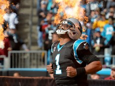 CHARLOTTE, NC - NOVEMBER 22:  Cam Newton #1 of the Carolina Panthers takes the field against the Washington Redskins at Bank of America Stadium on November 22, 2015 in Charlotte, North Carolina.  (Photo by Grant Halverson/Getty Images)