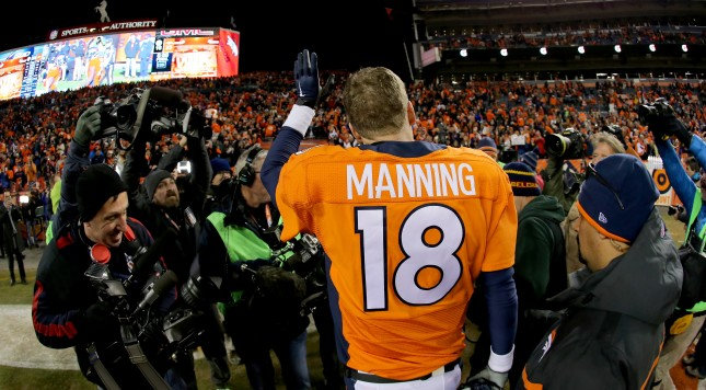 during the AFC Divisional Playoff Game at Sports Authority Field at Mile High on January 17, 2016 in Denver, Colorado.
