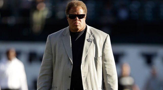 OAKLAND, CA - AUGUST 15:  Oakland Raiders general manager Reggie McKenzie stands on the field before  their preseason game against the Detroit Lions at O.co Coliseum on August 15, 2014 in Oakland, California.  (Photo by Ezra Shaw/Getty Images)