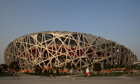 BEIJING - MAY 24:  A general view of the National Stadium, known as the 'Birds Nest' during day three of the Good Luck Beijing 2008 China Athletics Open at National Stadium on May 24, 2008 in Beijing, China. The event is the final test event to be held at the stadium prior to the 2008 Olympic Games.  (Photo by Stu Forster/Getty Images)