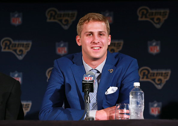 Jared goff might be only rookie quarterback to start week for Goff pictures