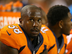 DENVER, CO - SEPTEMBER 08:  Outside linebacker Von Miller #58 of the Denver Broncos looks on from the bench in the first half against the Carolina Panthers at Sports Authority Field at Mile High on September 8, 2016 in Denver, Colorado.  (Photo by Justin Edmonds/Getty Images)