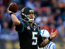 LONDON, ENGLAND - OCTOBER 02:  Blake Bortles of Jacksonville in action during the NFL International Series match between Indianapolis Colts and Jacksonville Jaguars at Wembley Stadium on October 2, 2016 in London, England.  (Photo by Ben Hoskins/Getty Images)