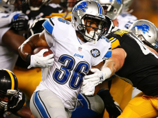 PITTSBURGH, PA - AUGUST 12: Dwayne Washington #36 of the Detroit Lions rushes in the second half against the Pittsburgh Steelers during the game on August 12, 2016 at Heinz Field in Pittsburgh, Pennsylvania. (Photo by Justin K. Aller/Getty Images)