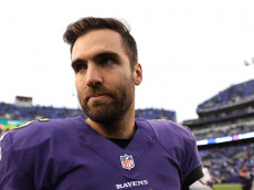 BALTIMORE, MD - DECEMBER 4: Quarterback Joe Flacco #5 of the Baltimore Ravens looks on after the Baltimore Ravens defeated the Miami Dolphins 38-6 at M&T Bank Stadium on December 4, 2016 in Baltimore, Maryland. (Photo by Patrick Smith/Getty Images)