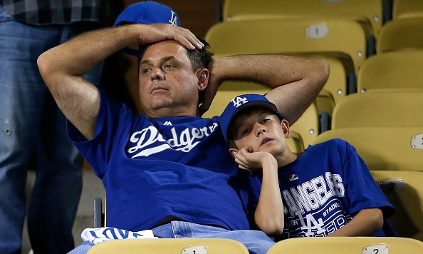 in game five of the National League Division Series at Dodger Stadium on October 15, 2015 in Los Angeles, California.