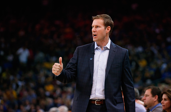 OAKLAND, CA - NOVEMBER 20:  Head coach Fred Hoiberg of the Chicago Bulls stands on the side of the court during their game against the Golden State Warriors at ORACLE Arena on November 20, 2015 in Oakland, California.  NOTE TO USER: User expressly acknowledges and agrees that, by downloading and or using this photograph, User is consenting to the terms and conditions of the Getty Images License Agreement.  (Photo by Ezra Shaw/Getty Images)