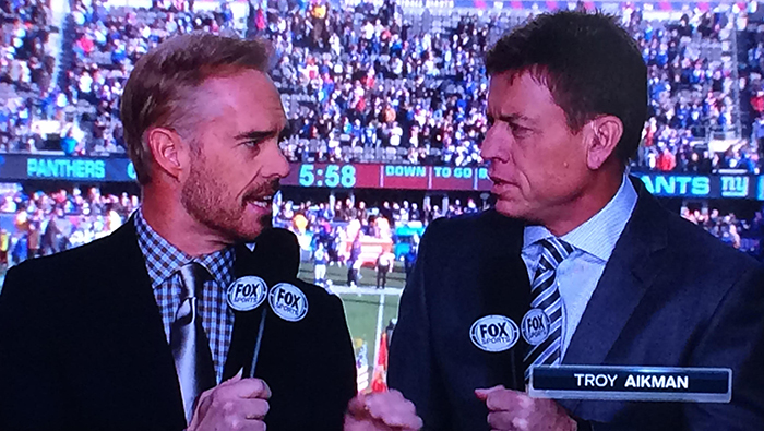 Joe Buck Troy Aikman flashy fashion show