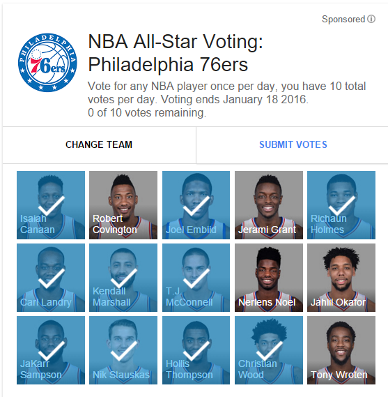 You can now vote for NBA All-Stars via Google Search ...