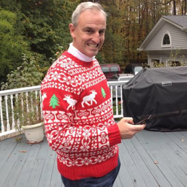 Trey Wingo Christmas sweater