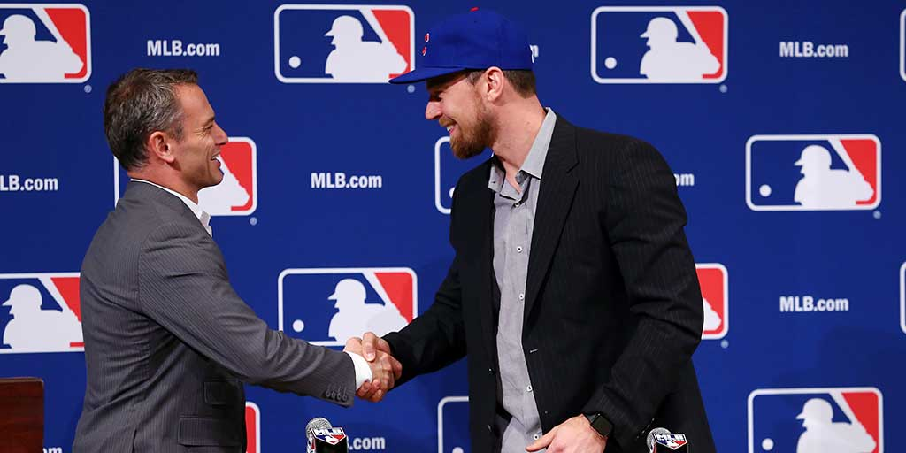 Ben Zobrist introduced at the Winter Meetings