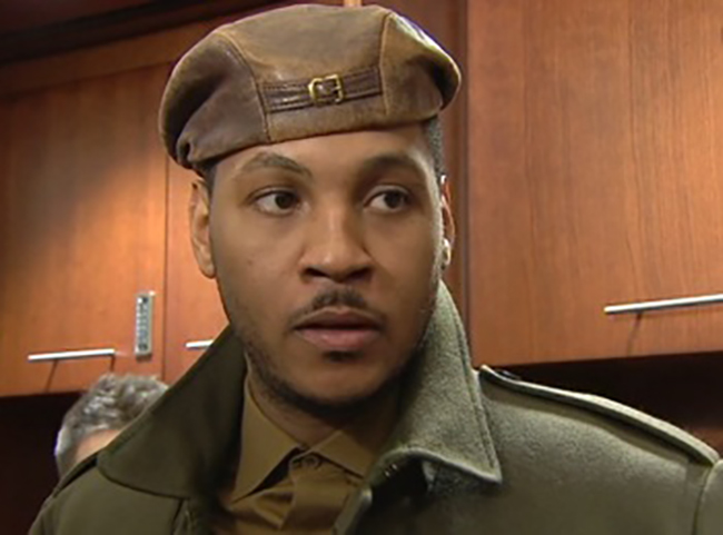 Carmelo Anthony war hero