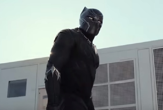 Chadwick Boseman as Black Panther in 'Captain America: Civil War.' (Screen cap via Marvel.)