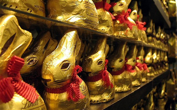 man tries to sell chocolate bunnies in gold foil for 5 000 gets