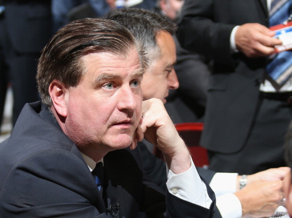 PHILADELPHIA, PA - JUNE 27:  Jim Benning, General Manager of the Vancouver Canucks is seen prior to the first round of the 2014 NHL Draft at the Wells Fargo Center on June 27, 2014 in Philadelphia, Pennsylvania.  (Photo by Bruce Bennett/Getty Images)