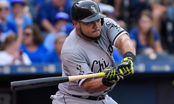KANSAS CITY, M0 - SEPTEMBER 05:  Melky Cabrera #53 of the Chicago White Sox bats against the Kansas City Royals during the first inning of a game at Kauffman Stadium on September 5, 2015 in Kansas City, Missouri. (Photo by Reed Hoffmann/Getty Images)