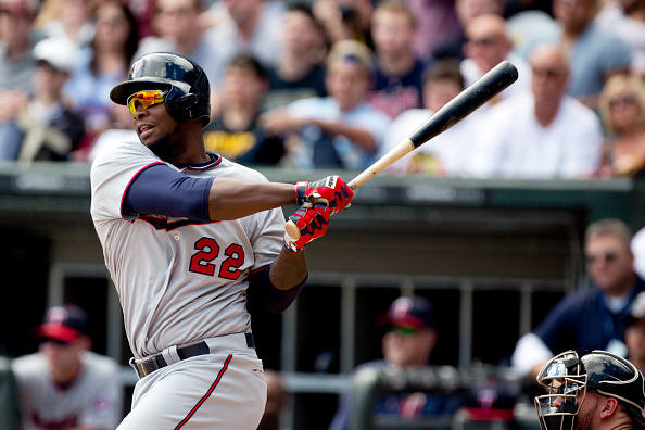 CHICAGO, IL - SEPTEMBER 13: Miguel Sano #22 of the Minnesota Twins at bat in the first inning of play against the Chicago White Sox at U.S. Cellular Field on September 13, 2015 in Chicago, Illinois. (Photo by Tasos Katopodis/Getty Images)