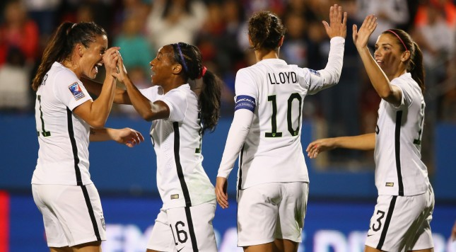 2016 CONCACAF Women's Olympic Qualifying at Toyota Stadium on February 10, 2016 in Frisco, Texas.