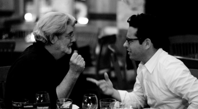 J.J. Abrams and George Lucas (2007). Photo: Wikimedia/Joi