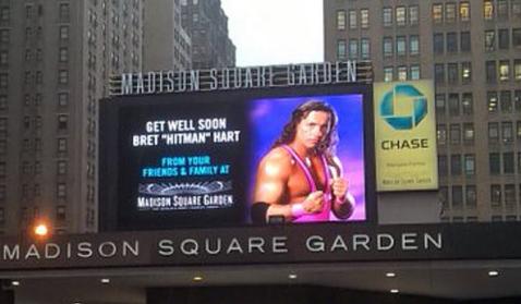 Madison Square Garden Shows Support For Wrestler Bret Hart After Cancer Diagnosis