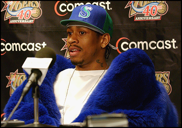 Allen Iverson Cookie Monster fir coat